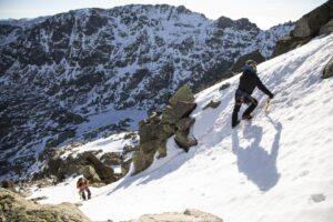 Reportagem na serra Gredos durante o curso de iniciação ao alpinismo coordenado pelo alpinista João Garcia.